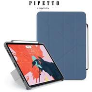 Pipetto Origami Pencil iPad Pro 11吋 多角度多功能保護套(內建筆槽)- 海軍藍/灰色