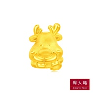 CHOW TAI FOOK 999 Pure Gold Pendant - Reindeer R22105