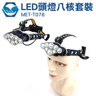 工仔人 MET-T076 LED頭燈八核 燈 照明燈 工作頭燈 工地燈 戶外探照燈