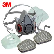 3M 6200 防毒口罩、面具 (全配7件組)  半罩式,雙罐式,內容有:6200面罩主體x1、6001濾毒罐x2、5N11濾棉x2、501濾蓋x2  公司貨