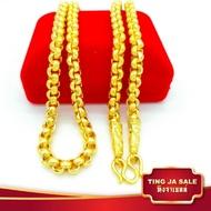 สร้อยคอทอง  หนัก5บาท สร้อยคอลายผ่าหวาย ยาว24นิ้ว สินค้าขายดี ชุบเศษทองเยาวราช ชุบทอง100% งานฝีมือจากช่างเยาวราช