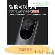 遠程 高清夜視 可視貓眼門鈴 2個電池可錄1年 免插電 監視器 對講機 網路攝影機 無線門鈴 無線 wifi-琪琪推薦