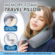 Memory Foam Travel Pillow / Shape Shiftable Portable Reliable Washable