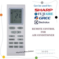 Sharp | Fujiaire | Gree | Electrolux | Remote Control FOR 1HP Air Cond Aircond Air Conditioner | Model SH-OFB