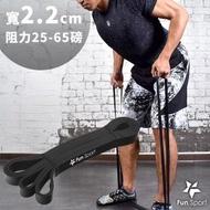 【Fun Sport】健力環-乳膠環狀彈力阻力帶-黑-(阻力圈 彈力帶 拉力繩 橡筋帶)