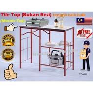 🇲🇾 🔥Tile Top🔥 3V Stove kitchen Stroge Cooking Gas Dapur Memasak Gas Rack Serbaguna Almari Kabinet Meja Tong Gas