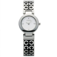 【COACH】MERCER-C LOGO經典手環時尚腕錶(白-25mm-CO14501359)