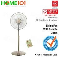 KDK Living Fan 30cm Plastic Blade w/Remote Control N30NH