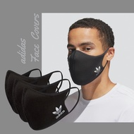 adidas 口罩 Face Covers 男女款 黑 非醫療用途 三葉草 愛迪達 可清洗 三入組【ACS】HC4704