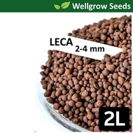 2L LECA 2-4mm (Clay Pebbles / Clay Balls / Hydroton) 陶粒(细)  for Hydroponics & Aquaponics / Mulching Use