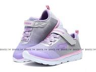 Shoestw【81354NGYLV】SKECHERS GO RUN 400 小童鞋 慢跑鞋 淺紫灰粉 黏帶 運動鞋