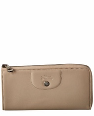 Longchamp Le Pliage Cuir Ziparound Leather Wallet