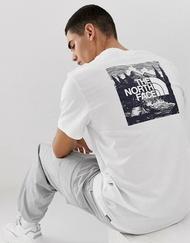 KUMO SHOES-現貨 The north face 北臉 山景系列 白 軍綠 棉質 透氣舒適 短袖 短踢 短tee