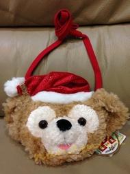 全新現貨日本迪士尼海洋Disney Sea限定斷貨款正品2009年Duffy達菲熊聖誕版大頭包零錢包悠遊卡夾卡包