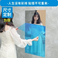 With adhesive mirror Stickers Wall paste soft mirror wallpaper self adhesive dormitory mirror floor wall decorative reflective film