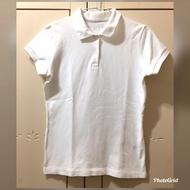 二手 純白polo衫 S