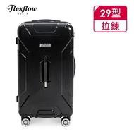 【Flexflow】原色黑 29吋 特務箱 智能測重 防爆拉鍊旅行箱(南特系列)