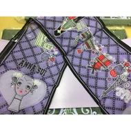 安娜蘇 ANNA SUI 紫色洋娃娃魔幻絲巾/圍巾 百貨專櫃貨 全新正品