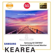 Samsung 32 C32F391F Essential White Curved Monitor for Increased Viewing Comfort and Entertainment (3 year onsite warranty)