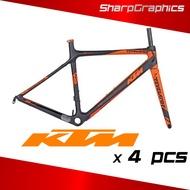 KTM Bike Frame Brand Sticker Decal