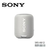 SONY可攜式防水防塵藍牙喇叭 SRS-XB12 灰