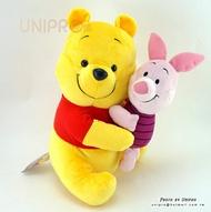 【UNIPRO】日貨 迪士尼 小熊維尼 相親相愛 擁抱 小豬 Winnie the Pooh 維尼 絨毛玩偶 娃娃 景品 SEGA
