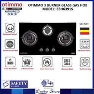 OTIMMO 90CM 3 BURNER GLASS HOB