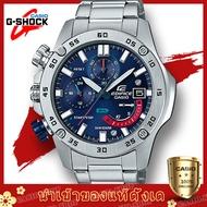 นาฬิกาข้อมือผู้ชายCasio Edificeสายสแตนเลส รุ่น EFR-558D-2AV(silver blue),EFR-558DB-1AV(silver black) (อุปกรณ์พร้อมกล่องรับประกัน1ปี)