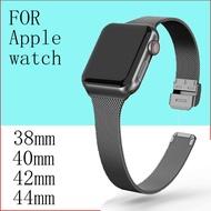 Milanese LOOP STRAP for Apple Watch band 5 44mm 40mm I Watch band 42/38mm สแตนเลสสร้อยข้อมือโลหะ Apple Watch 5 4 3 2 1