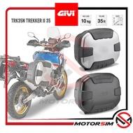 Givi TREKKER 2 II TRK35N / TRK35B / TRK35PACK2 / TRK35BPACK2 35 Liter Monokey TOP SIDE BOX Case ALUMINIUM