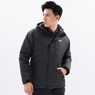 【遊遍天下】男款GlobeTex防水防風透濕保暖無車縫羽絨機能外套(GJ22005)XL黑灰