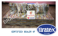 Original Uratex Sofa Bed Double Size With Free Pillow and Cover (6x48x73)