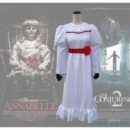 【現貨】安娜貝爾2誕生COS恐怖娃娃cosplay服裝萬圣節cos服鬼片cos服