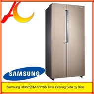 Samsung RS62K61A77P/SS Twin Cooling Side by Side Refrigerator (620L)