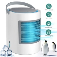 Portable Space Air Conditioner,Small Personal Desk Fan,Quiet Air Cooler Misting Fan,Mini USB Air Conditioner Fan,Purifier,Sterilizer,Humidifier,Desktop Cooling Fan with 3 Speeds for Home Room Office