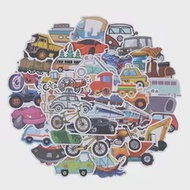 40PCS การ์ตูนรถ Means Of Transportation PVC กันน้ำ Graffiti เด็กของเล่นสติกเกอร์สำหรับกระเป๋าเดินทางสเก็ตบอร์ดรถจัก...