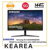 Samsung 32 LC32JG50QQEXXS WQHD Curved Monitor with 144Hz Refresh Rate (3 year onsite warranty)