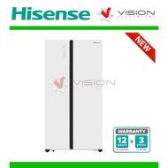 New: Hisense 620L Side by Side Inverter Fridge RS686N4AWU ( Peti Sejuk )