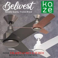 KAZE Ceiling Fan / NOVA Ceiling Fans /EEDC motor (PRICE GUARANTEED) (FREE NTUC FAIRPRICE $5 VOUCHER)