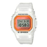 CASIO G-SHOCK DW-5600LS-7 夏季必備半透明螢光流行腕錶