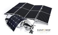 【人生に、野遊びを】美國進口 100W 單晶 軟式太陽能板 ETFE  N型 軟性太陽能板 彎曲太陽能板 T4 露營車