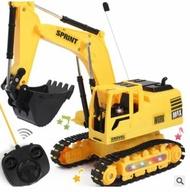 兒童無線遙控挖土機 | 仿真挖掘車 | 男孩玩具 | 電動工程車 | 挖土機玩具 | 遙控車 | 【愛家便宜購】