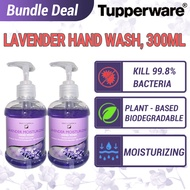 [Ready Stocks - Set of 2] Tupperware Nutrimetics Lavender Moisturizing Hand Wash 300ml, Anti-Bacteria & Anti-Virus [Expiry: April 2022]