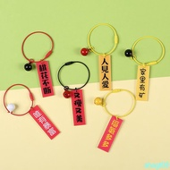Order full 400 shipping personality creative car text key ring ring cute storage key chain couple in