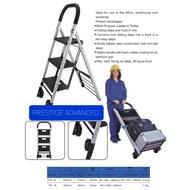 Solid 2,3  and 4 Step Foldable Steel Trolley Ladder/ Tangga Troli Keluli Lipat 2, 3 dan 4 Langkah Pepejal