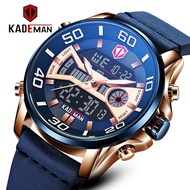 [Spot Free Shipping]Original KADEMAN Luxury Brand Men Watch LED Quartz Digital Sport Dual Time Watches For Man Military