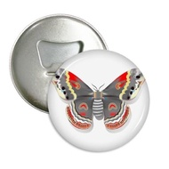 RBStore 3D Kite Butterfly In Chinese Style Round Bottle Opener Refrigerator Magnet Badge Button 3Pcs Gift - intl