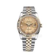 【米蘭坊】勞力士日誌型系列116233香檳盤鑲鉆腕表