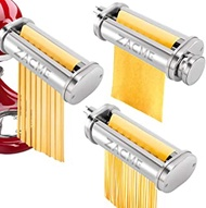 3 Pack Pasta Maker Attachments for Kitchenaid Mixer, Professional Pasta Roller Cutters for Stand Mixer, Kitchenaid Accessories Pasta Attachments Stainless Steel