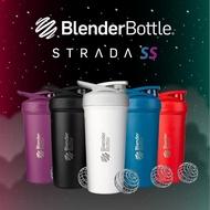 【Blender Bottle】卓越搖搖杯〈Strada不鏽鋼〉24oz|5色可選『美國官方』(BlenderBottle/運動水壺/乳清)